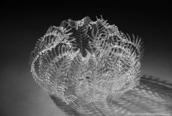Flameworked Feather Star Sculpture